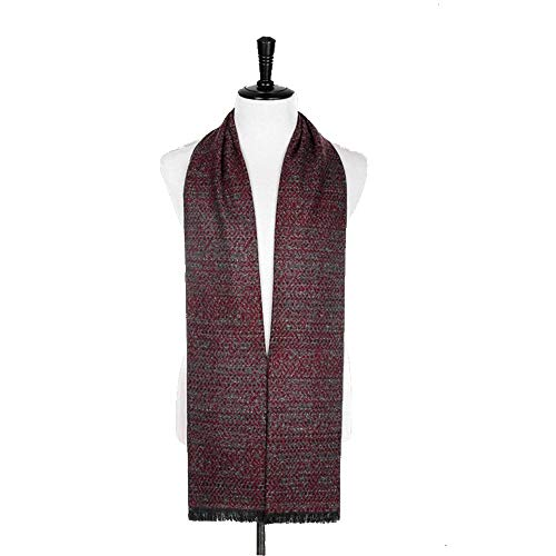 KK Gabby Brown de gama alta de la bufanda de los hombres de Nueva invierno Hit punto del color de los hombres de imitación collar bufanda de la cachemira de los hombres de negocios cepillado caja de r