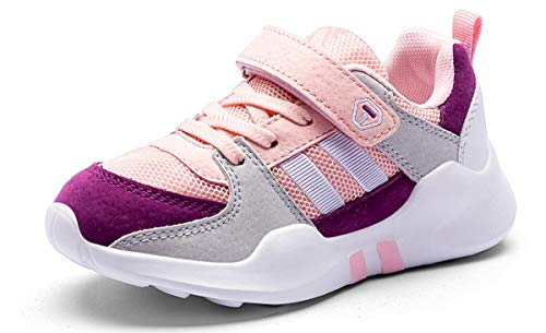 Scarpe da Ginnastica Ragazze 33 Scarpe da Corsa Bambina Scarpe da Basket Ragazzi Sportive Scarpe da Camminata Bambine Scarpe Bambini Atletica Scarpe Bambini Tennis Sneaker con Velcro Rosa Pink