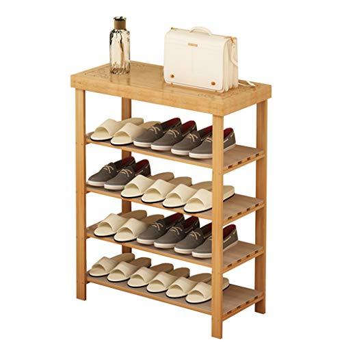 Range-chaussures Étagère à Chaussures étagère à Chaussures en Bambou Domestique Simple et Multicouche étagère de Rangement pour Porche Armoire à Chaussures Multicouche