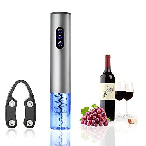 Sacacorchos Eléctrico de Vinos, AVEDISTANTE Abrebotellas Eléctrico para Vino de Acero inoxidable