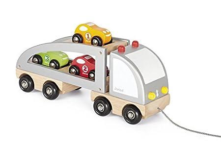Janod Auto-Transporter mit Ladung zum Ziehen