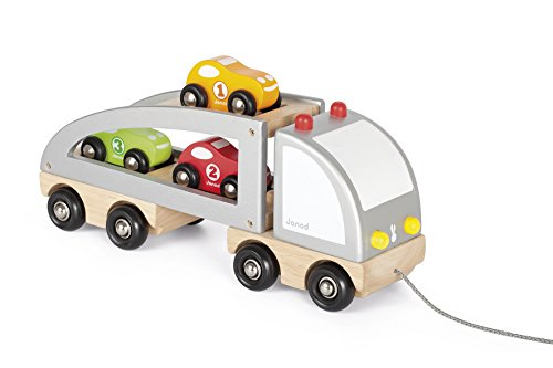 Janod - J05603 - Camion multi bolides Bois