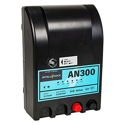 Intellishock AN300 - Electrificador de vallas para pastos, 12 V/230 V, para...