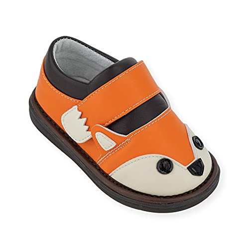Wee Squeak Toddler Squeaky Shoes Fox Orange Size 5