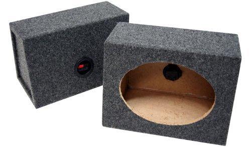 "Car Audio Custom 6"" X 9"" Sealed Speaker Wedge Gray Carpet Enclosure Unloaded Box"