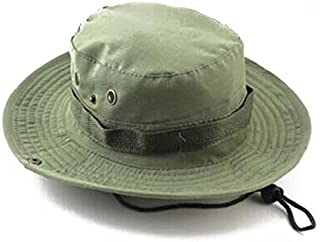 Boonie Bucket Hat Hiking Fishing Bush Cap for Outdoor Activites (Light Army Green)