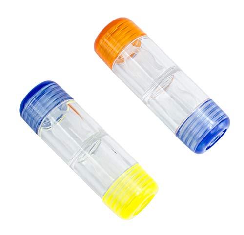 10 Stück Kontaktlinsenbehälter für harte Linsen/Rigid Gas Permeable RGP-Kontaktlinsen Großpackung