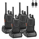 BF-88E Walkie Talkies Rechargeable Long Range, Portable Handheld Two way Radio with Earpieces