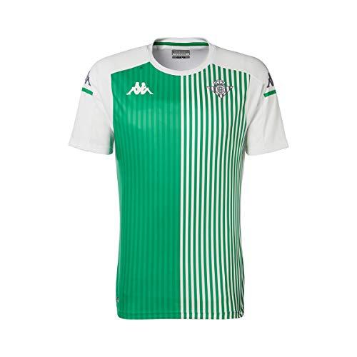 Kappa Aboupres Pro 4 Betis Camiseta Entrenamiento, Hombre, Blanco/Verde, 2XL