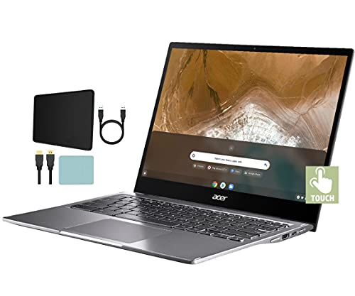 Acer Spin 713 13.5-inch 2K VertiView Touchscreen Chromebook | 10th Gen Intel Core i5-10210U | 8GB RAM | 128GB PCIe SSD | Wecam | Backlit Keyboard | w/Mazepoly Accessories