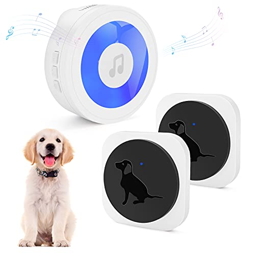 Aimego Dog Door Bells for Potty Training, Wireless Dog Bell with Sensitive...