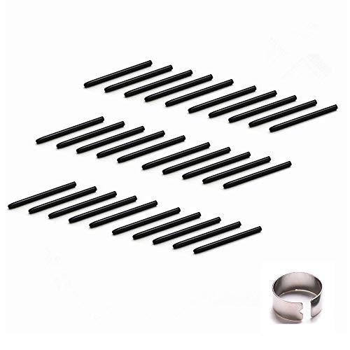 NEFUTRY 30 puntas estándar de repuesto con 1 anillo de extracción para Wacom Bamboo Intuos Cintiq Pen