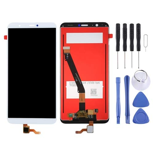 Consumer Electronics LCD-scherm LCD-scherm en Digitizer Volledige Vergadering for Huawei P Smart (Enjoy 7S) (zwart) Reparatie Onderdelen (Color : White)