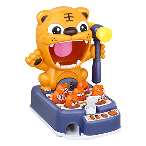NUOBESTY Klassisches Maulwurf Schlagen Elektronisches Arcade-Spiel Kinder Pädagogisches Musikalisches Lernen Zweisprachiges Spielzeug Blau