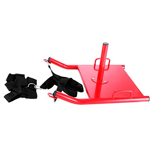 Happybuy Weight Sled Push Pull Heavy High Training Sled Drag Fitness HD Power Speed Training Sled for Athletic Exercise and Fitness Strength Training