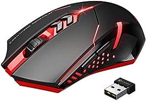 VicTsing Ratón Inalámbrico Para Juegos, Mouse Óptico USB 2.4G, 7 Botones Silenciosos Con 5 DPI Ajustables,...