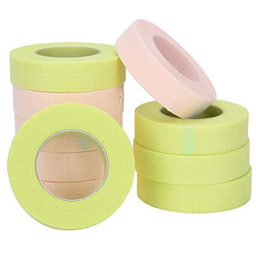 Huakii 【Cadeau d'avril】 Ruban pour Cils greffés, Ruban Isolant adhésif pour Cils greffés Respirant, institut de beauté à Usage Professionnel(5 Green + 5 Pink)