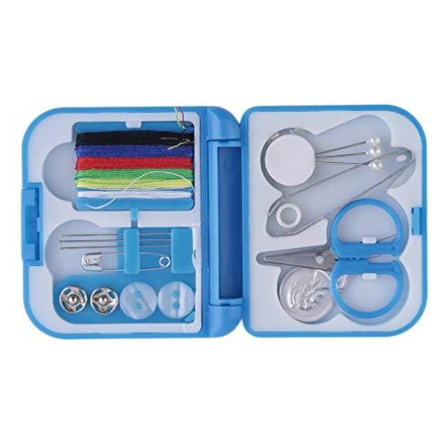Kit de costura de viaje con agujas de rosca mini funda tijeras de plástico juego de pines de cinta