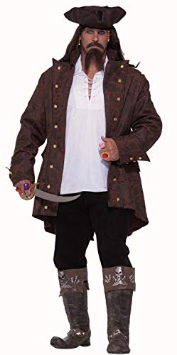 Forum Big-Tall Big Fun Pirate Captain Costume, Multi, XXX-Large