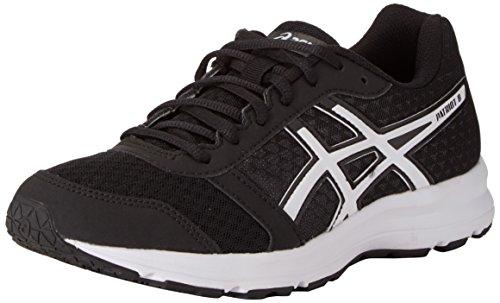 Asics Patriot 8, Zapatillas de Running Hombre, Negro (Black/White/White), 46.5 EU