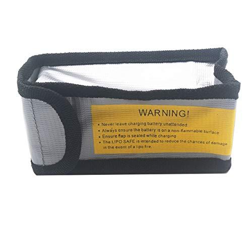 OUYBO 6.4 * 5 * 12.5cm incombustible batería lipo bolsa de seguridad a prueba de explosión de la Guardia de carga Saco ignífugo Protección bolsa de la batería del rc Accesorios de batería de piezas RC