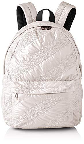 Desigual Backpack Big, Fabric-Mochila (tamaño Grande) para Mujer, Blanco, Medium