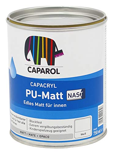 Caparol Capacryl PU Matt weiss 0,75L Spritzlack Weißlack für Holz und Metall