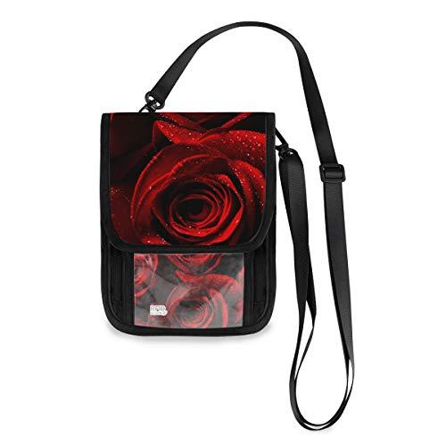 XiangHeFu tas portemonnee grote capaciteit Rose Red Phone Bag muntcassette kaarthouder portemonnee