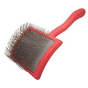 Chris Christensen Big G Dog Slicker Brush for Grooming, GroomGrip Coating, Large, Coral