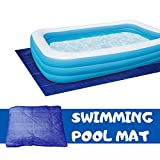 BOSALY Pool Cover for Kiddie Adult Rectangle Swimming for or Garden Outdoor Paddling Family Pools Keep Pool Free Clean and Temperature (200cmX200cm)
