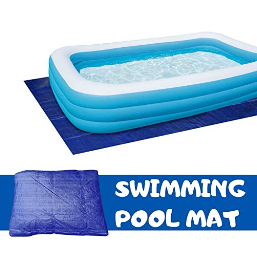Swimming Pool Cover 200X400 200X300 200X200 Paddling Pool Cover Square Dustproof Rainproof Thickening Family Pool Cover Protector Suitable for All Kinds of Swimming Pools