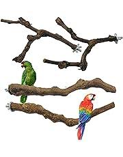 N\A Allazone 4 szt. okonia dla ptaków naturalne winogrona ptak stojący kij huśtawka żucie ptak zabawki naturalny winorośl klatka dla ptaków okoń do papugi klatek zabawka dla kokatów, papugi, spływów