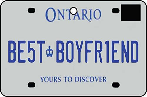 Ali Air Freshener Ontario - Best Boyfriend Nummernschild Auto Lufterfrischer