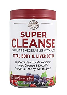 Country Farms Super Cleanse, Organic Super Juice Cleanse, Delicious Drink Powder, 14 Servings, 9.88 Oz (Packaging May Vary) from Windmill Health Products