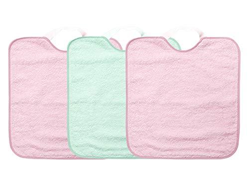 Ti TIN - Pack 3 Baberos impermeables Bebé Niña Cierre