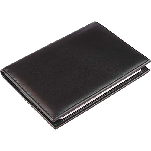 Echt Leder Reisepasshülle mit RFID Schutz - Reisepassetui als Schutzhülle für DREI Scheckkarten, Ausweise, und Geld - Travel Wallet, Organizer, Ausweishülle, Passport Hülle und Reisebrieftasche