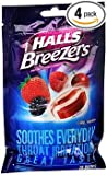 Halls Breezers Drops Cool Berry - 25 ct, Pack of 4