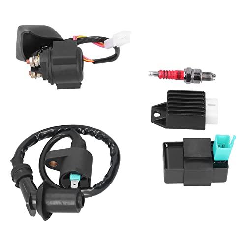 Relè solenoide, 5 pin CDI Box Bobina di accensione Raddrizzatore Prestazioni stabili durevoli Migliora l'efficienza di combustione per 50cc 70cc 90cc 110cc 125cc ATV Dirt Pit Bike