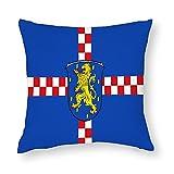 Flagge Limburg-weilburg in Hessen Deutschland Kissenbezug Quadratisch Dekorative Kissenhülle für Sofa Couch Zuhause Schlafzimmer Indoor Outdoor Cute Kissenbezug 45,7 x 45,7 cm
