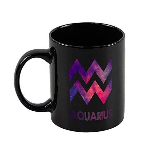 Tazza divertente con segno zodiacale dell'acquario, con simbolo dell'oroscopio, in ceramica, per uomini, donne, lui e lei