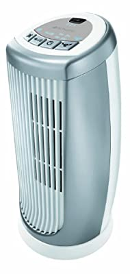 Bionaire Oscillating Mini Tower Fan with Timer & Ioniser, Silver/White [BMT014D]