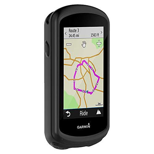 subtel® Backcover Compatibile con Garmin Edge 1030 / Edge 1030 Plus SiliconeCustodia Protettiva Cover Case Etui Sleeve Nero