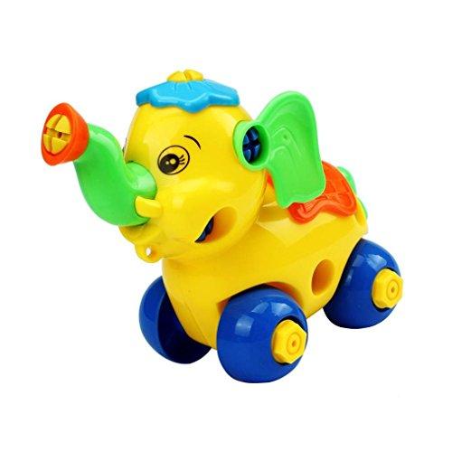 Jouets pour bébé,Transer®Meilleur cadeau démontage éléphant voiture Design jouets éducatifs pour enfants (bleu)
