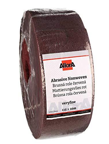 AllorA Mattierungsvlies Schleifvlies Rolle rot 115 mm x 10 m Korn 800