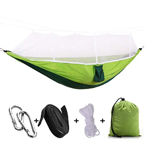 Lsdnlx Hamaca,Hamaca portátil para Acampar al Aire Libre con mosquitera Tela de paracaídas de Alta Resistencia Cama Colgante Columpio para Dormir de Caza