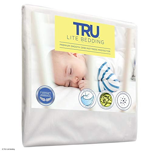 TRU Lite Bedding Crib Size - Baby Mattress Cover - Premium Smooth Toddler Mattress Protector, Waterproof, Breathable Cover Protection