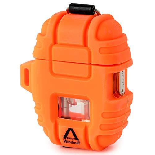 WINDMILL(ウインドミル) ライター デルタ ターボ 耐風仕様 オレンジ 390-0008 66 (h) x 52 x 23.5 mm