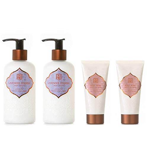 AKALIKO Lavender Cherish Body Lotion and Rosy Rose Hand Cream - Set B.