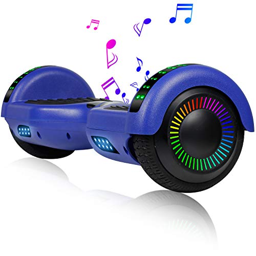 EPCTEK 6.5' Hoverboard for Kids Adults - UL2272 Certified Self Balancing Hover Board w/Bluetooth Speakers, LED Light