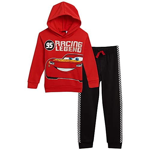 Disney Lightning McQueen Toddler Boys Pullover Hoodie and Pants Set Red/Black 2T